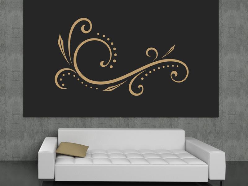wandtattoo verschn rkeltes dekor. Black Bedroom Furniture Sets. Home Design Ideas