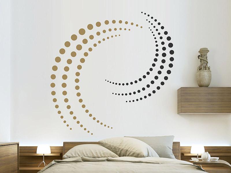 wandtattoo 3d wirbel aus punkten. Black Bedroom Furniture Sets. Home Design Ideas
