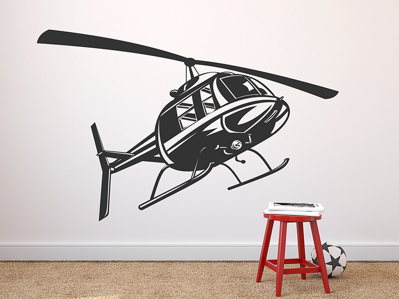 wandtattoo helikopter f r das kinderzimmer. Black Bedroom Furniture Sets. Home Design Ideas