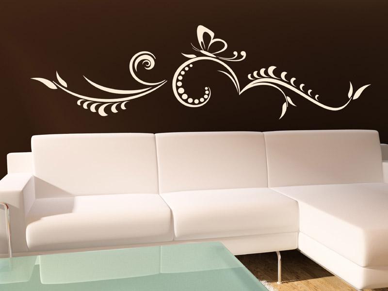 wandtattoo ranke mit schmetterling. Black Bedroom Furniture Sets. Home Design Ideas