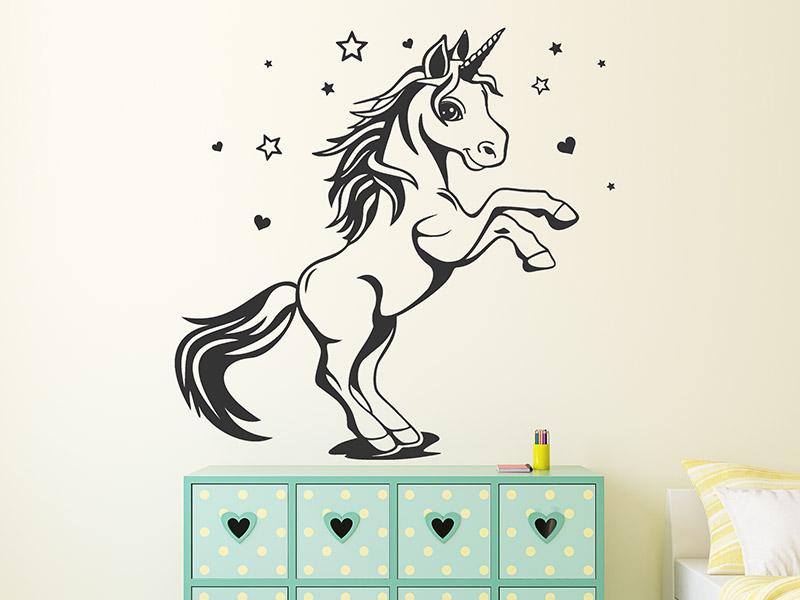 wandtattoo einhorn unicorn