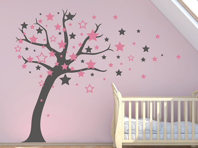 babyzimmer m dchen wandtattoo. Black Bedroom Furniture Sets. Home Design Ideas