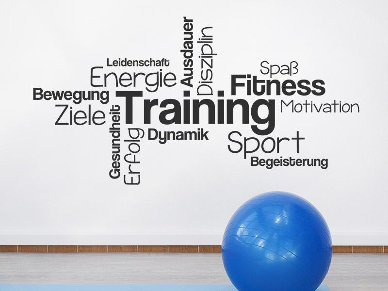 Wandtattoo Wortwolke Training Für Sportler Wandtattoosde