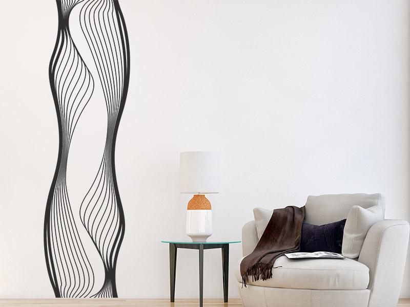 wandbanner fluid wandtattoo flie ende linien. Black Bedroom Furniture Sets. Home Design Ideas