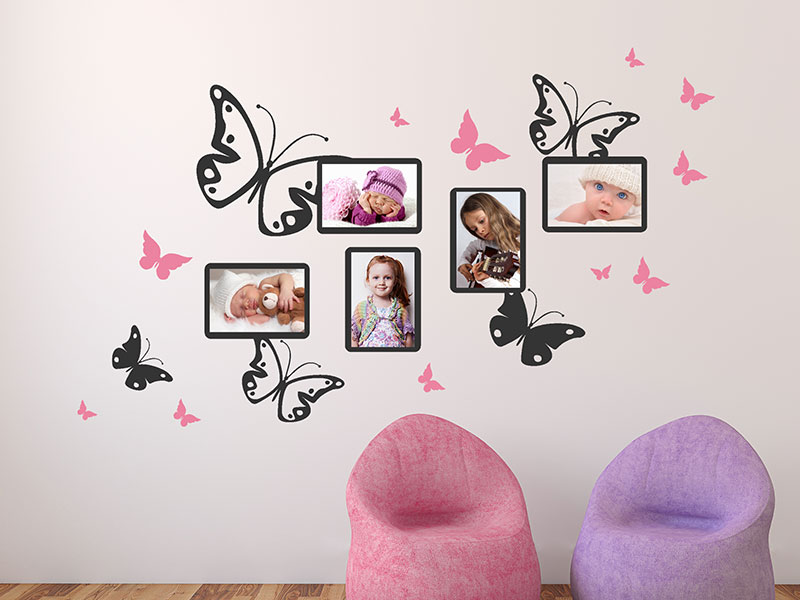 Wandtattoo Schmetterlinge Mit Fotorahmen Wandtattoos De