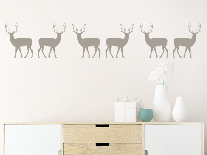 wandtattoo bord re hirsche. Black Bedroom Furniture Sets. Home Design Ideas