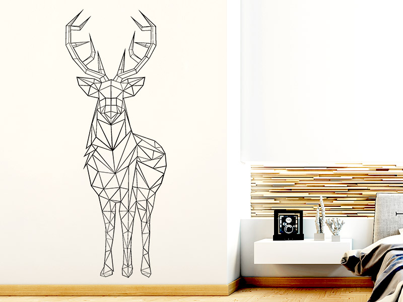 wandtattoo origami hirsch bei. Black Bedroom Furniture Sets. Home Design Ideas