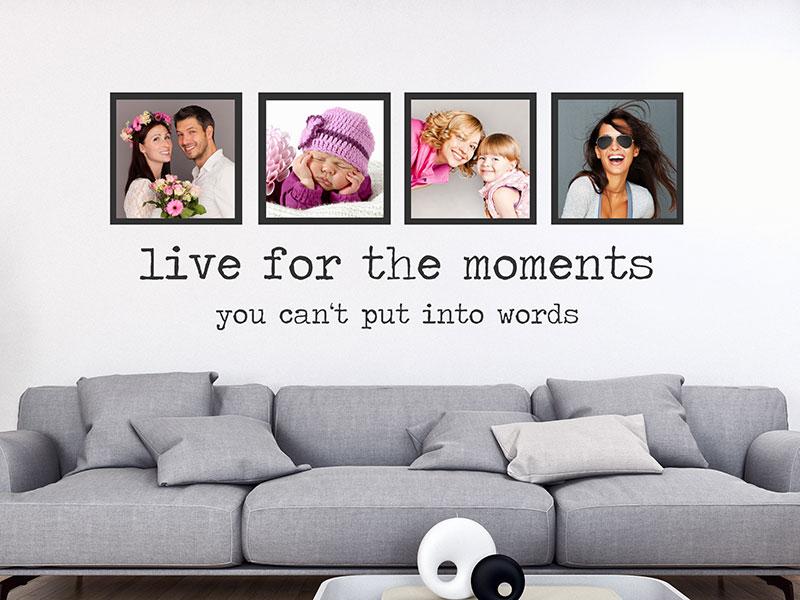 Wandtattoo Fotorahmen Live for the moments - Wandtattoos.de