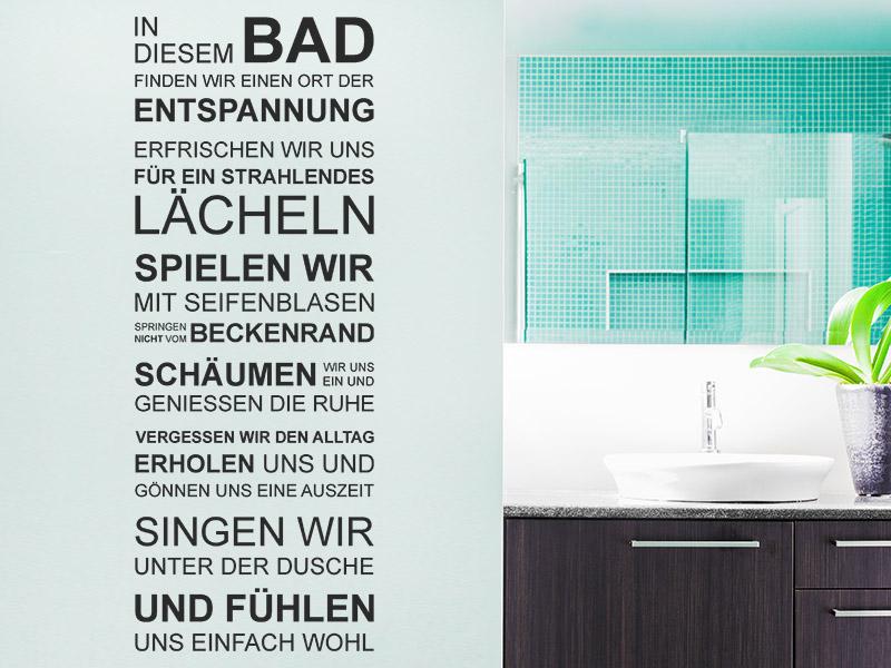 Wandtattoo Bad Spruchbanner - Wandtattoos.de
