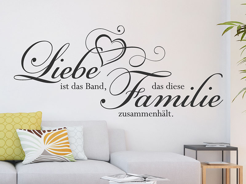wandtattoo band der familie von. Black Bedroom Furniture Sets. Home Design Ideas