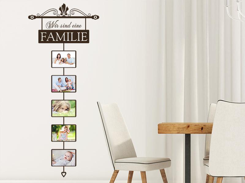Wandtattoo Fotorahmen Wir sind eine Familie - Wandtattoos.de