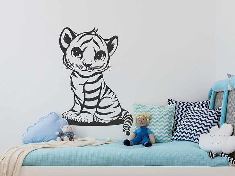 Wandtattoo Susser Tiger Tigerbaby Wandtattoos De