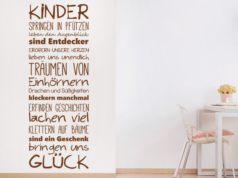 wandtattoo kindergl ck spruchband. Black Bedroom Furniture Sets. Home Design Ideas