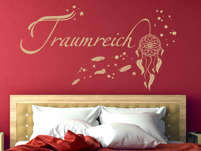 wandtattoo traumreich mit traumf nger. Black Bedroom Furniture Sets. Home Design Ideas