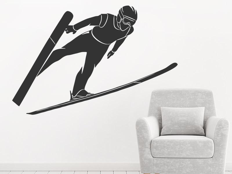 wandtattoo skispringer wintersportler. Black Bedroom Furniture Sets. Home Design Ideas