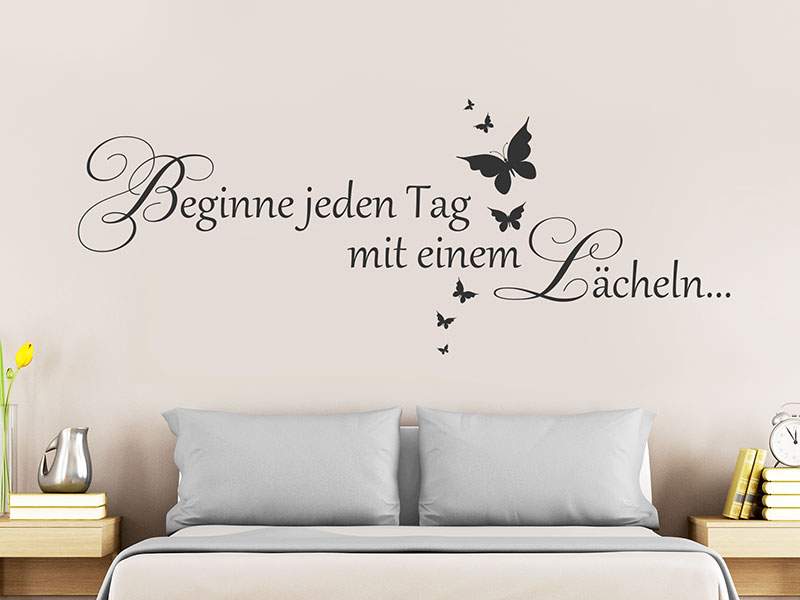 Wandtattoo Schlafzimmer: Motive über Betten - Wandtattoos.de