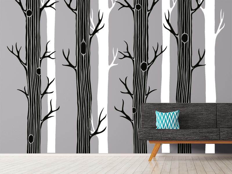 wandbanner wald wandtattoo xxl. Black Bedroom Furniture Sets. Home Design Ideas