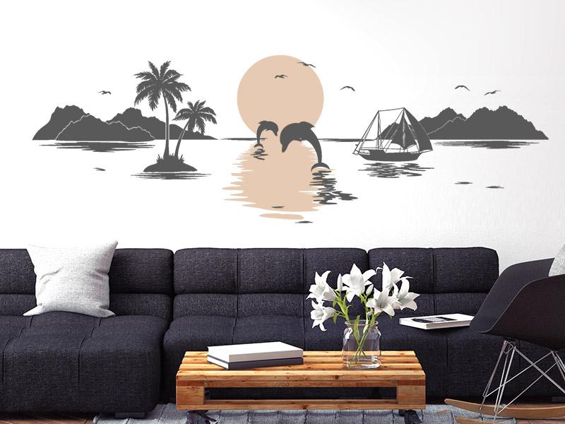 wandtattoo urlaub am meer. Black Bedroom Furniture Sets. Home Design Ideas