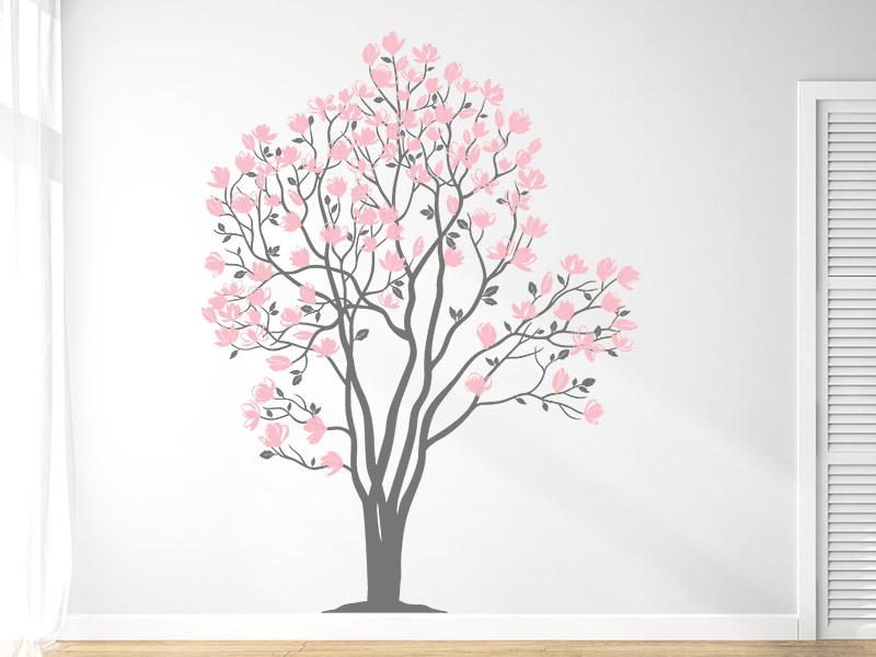 wandtattoo magnolien baum xxl wandtattoo. Black Bedroom Furniture Sets. Home Design Ideas