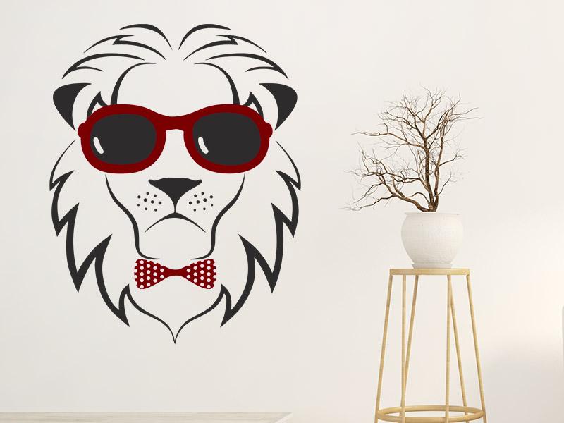 wandtattoo cooler l we mit sonnenbrille. Black Bedroom Furniture Sets. Home Design Ideas