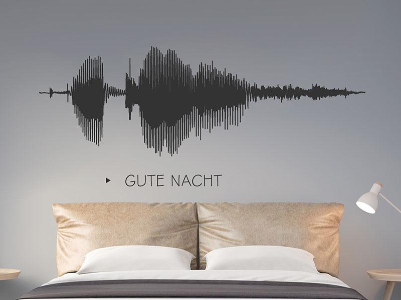 Wandtattoo Gute Nacht Klang in Wellenform | Wandtattoos.de