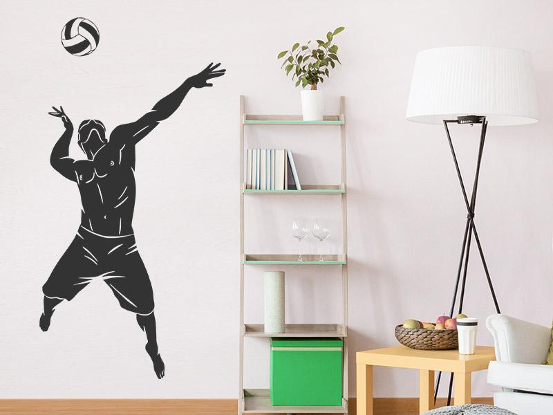 wandtattoo beach volleyballer. Black Bedroom Furniture Sets. Home Design Ideas