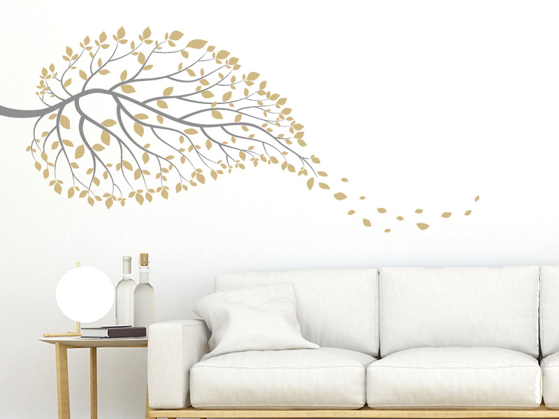 wandtattoo ast in blattform. Black Bedroom Furniture Sets. Home Design Ideas