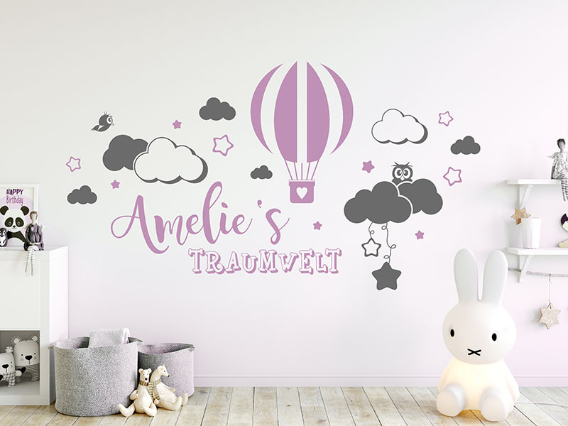 kinderzimmer wandtattoo mit name i love wandtattoo de. Black Bedroom Furniture Sets. Home Design Ideas