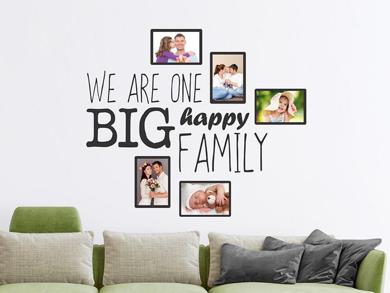 Wandtattoo fotorahmen big happy family - Wandtattoo family ...