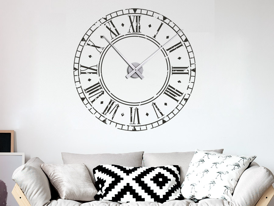 wandtattoo vintage uhr wandtattoo wanduhr. Black Bedroom Furniture Sets. Home Design Ideas