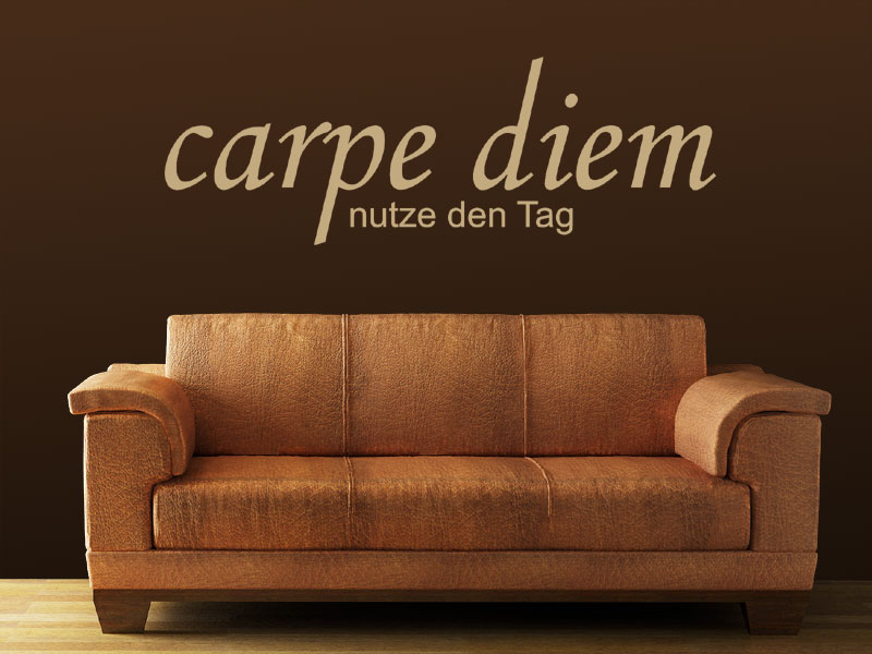 wandtattoo carpe diem nutze den tag. Black Bedroom Furniture Sets. Home Design Ideas