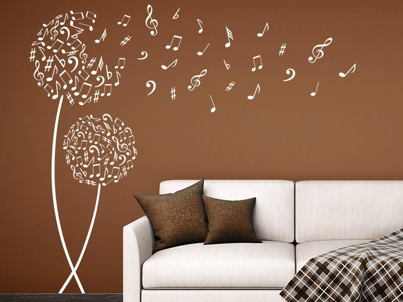 wandtattoo notenbl ten musik. Black Bedroom Furniture Sets. Home Design Ideas