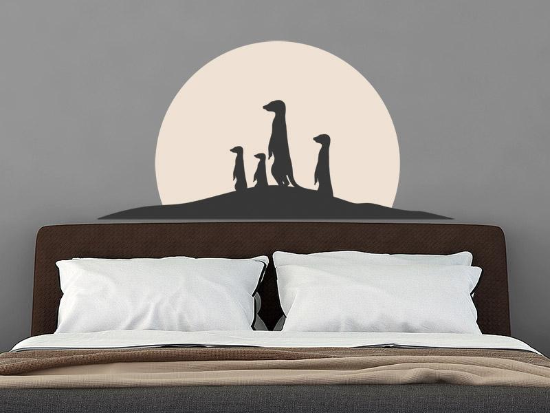 wandtattoo erdm nnchen familie im sonnenaufgang. Black Bedroom Furniture Sets. Home Design Ideas
