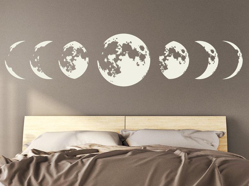 Wandtattoo Mondphasen