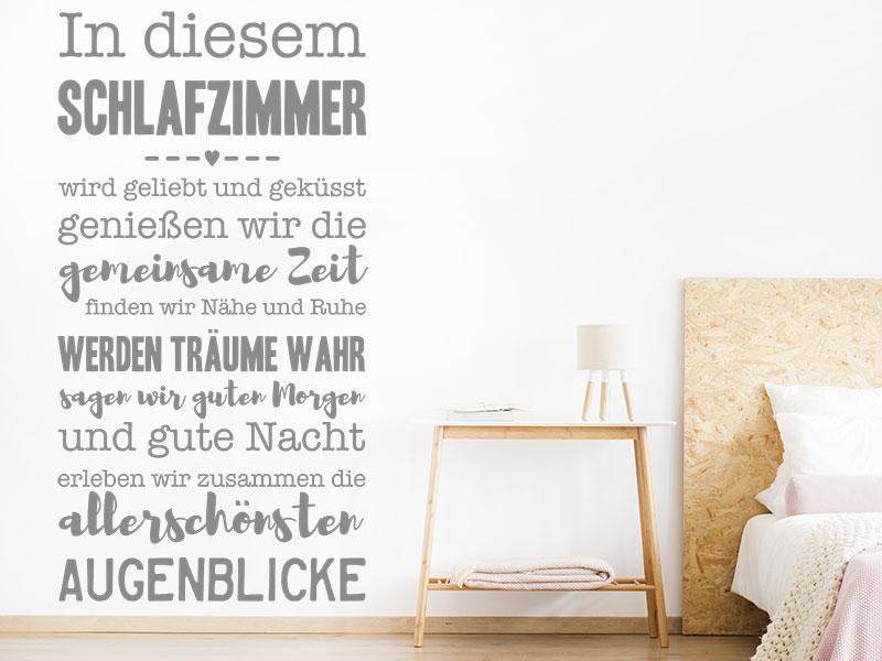 Wandtattoo In diesem Schlafzimmer | Wandtattoos.de