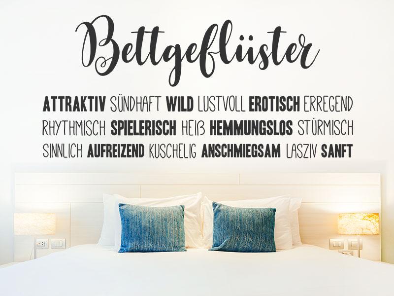 Wandtattoo Bettgefluster Worte Furs Schlafzimmer Wandtattoos De