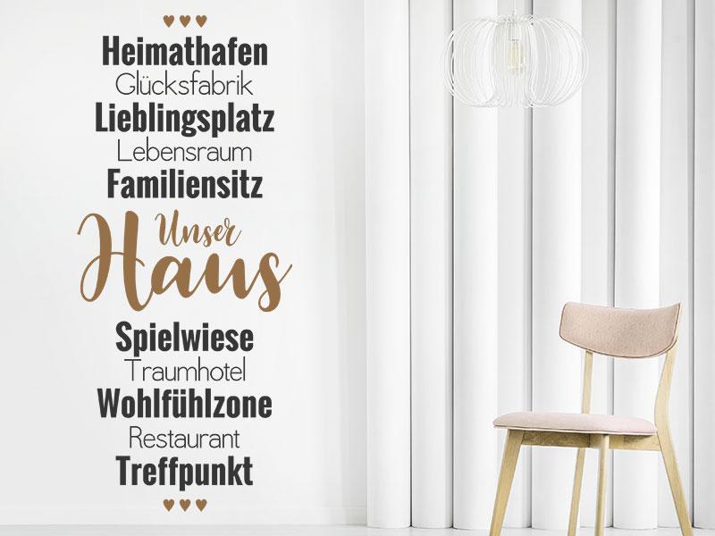 Wandtattoo Unser Haus | Wandtattoos.de