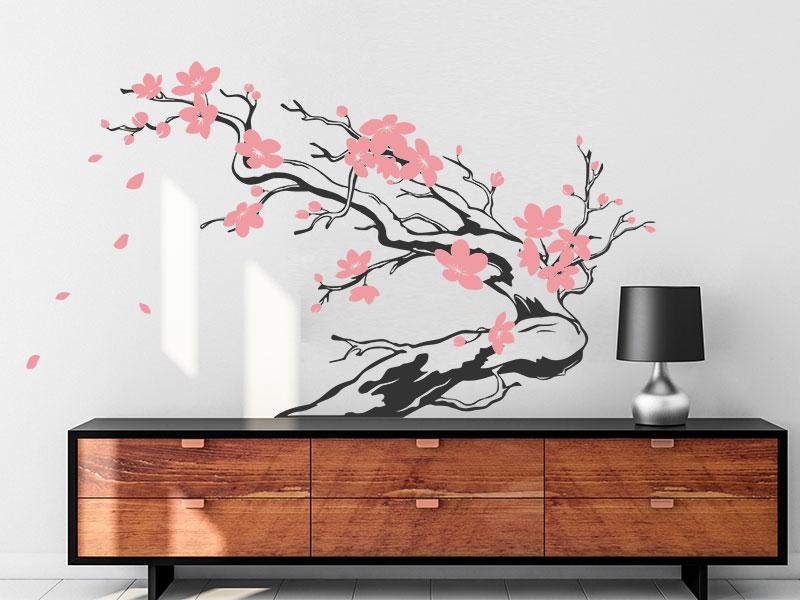 wandtattoo japanischer ast mit bl ten. Black Bedroom Furniture Sets. Home Design Ideas