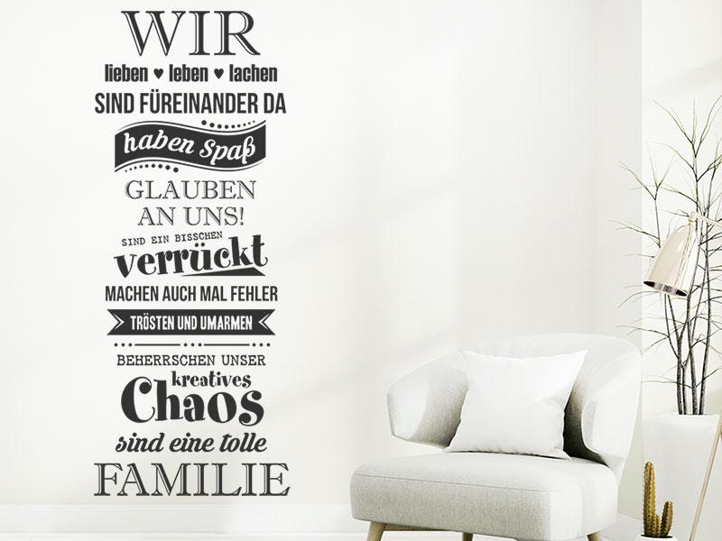 Wandtattoo wir lieben leben lachen familie - Tolle wandtattoos ...