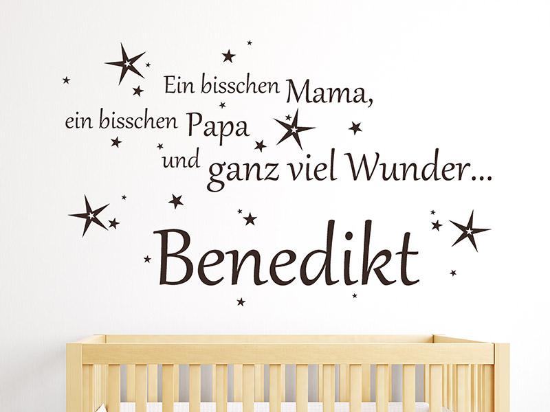 Wandtattoo Ein bisschen Mama, ein bisschen... | Wandtattoos.de