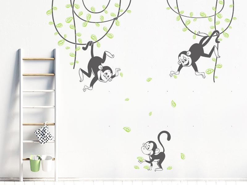Wandtattoo Susse Affen Furs Kinderzimmer Wandtattoos De