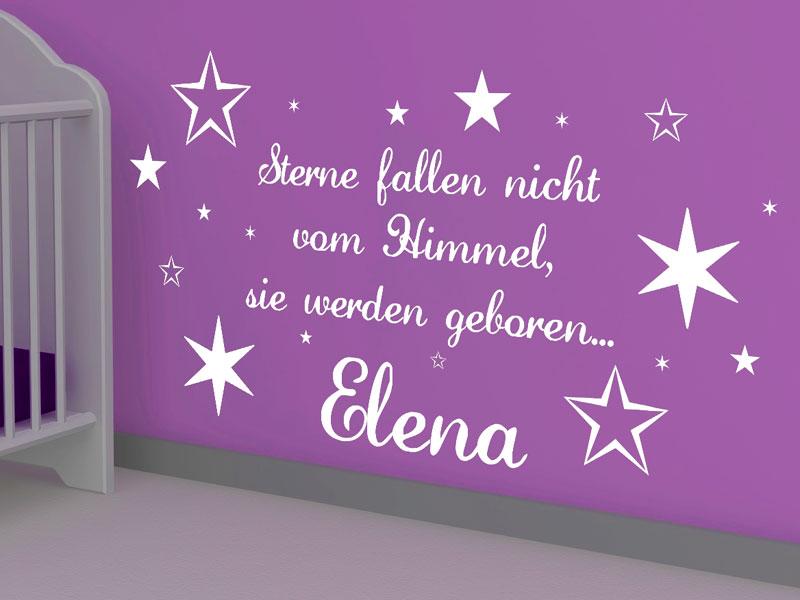 Wandtattoo Sterne fallen nicht vom Himmel - Wandtattoos.de | {Babyzimmer wand 49}