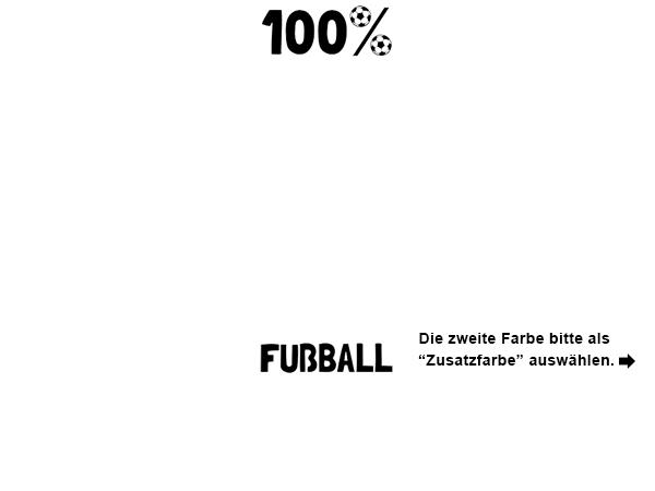 Wandtattoo 100 Prozent Fussball Wandtattoos De