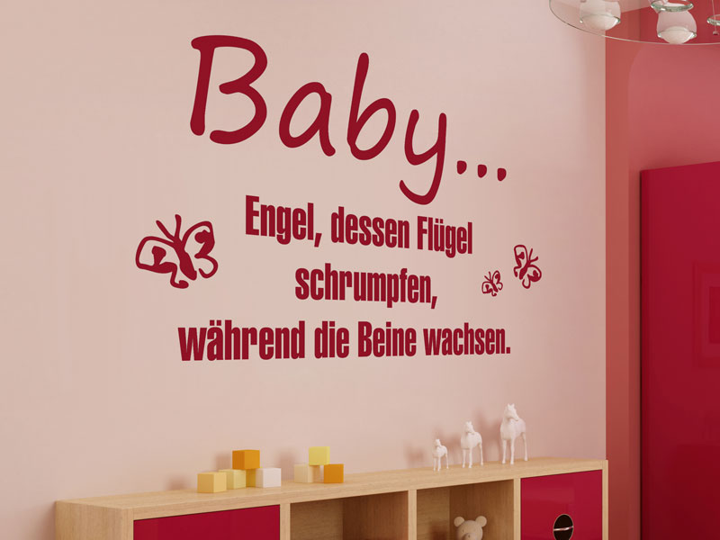 baby wandtattoo baby babyzimmer deko bei. Black Bedroom Furniture Sets. Home Design Ideas