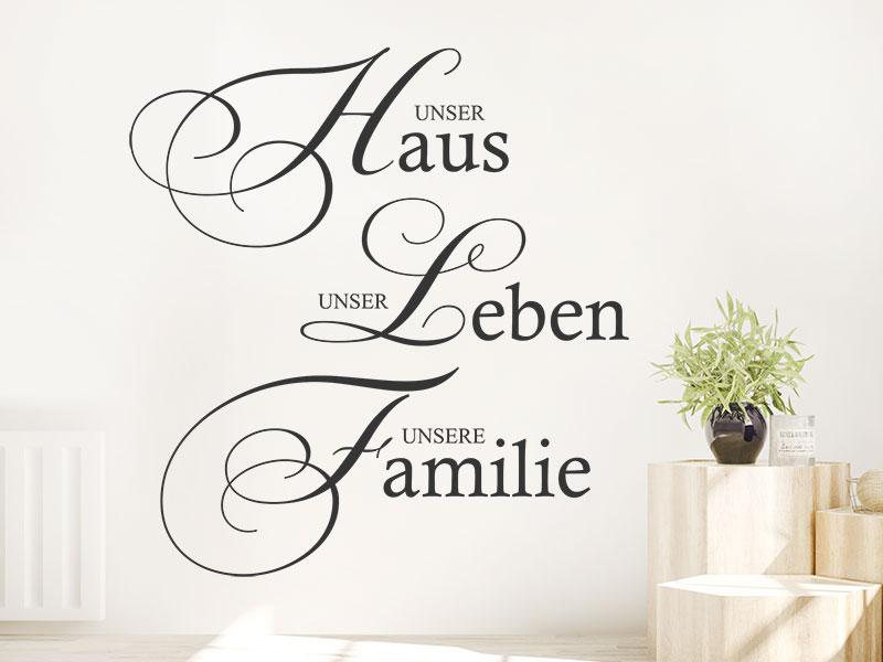 Wandtattoo Haus Leben Familie | Wandtattoos.de