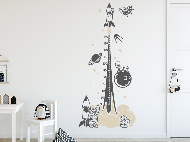 wandtattoo messlatte weltraum f rs kinderzimmer. Black Bedroom Furniture Sets. Home Design Ideas
