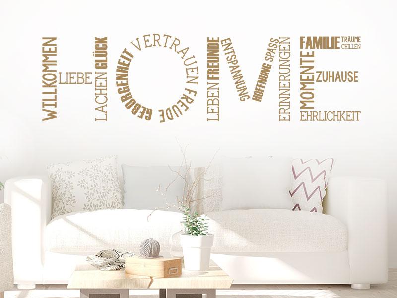Wandtattoo home kreativ mit begriffen - Wandtattoo home ...