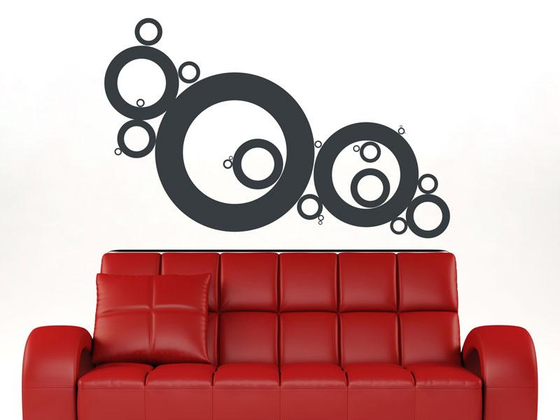 retro kreise wandtattoo kreise retro bei. Black Bedroom Furniture Sets. Home Design Ideas