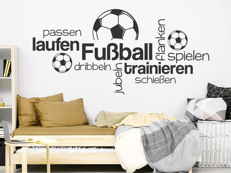 Wandtattoo wortwolke fu ball spielen - Wanddeko fussball ...