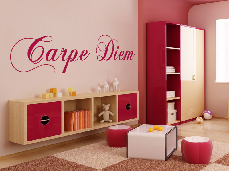 wandtattoo carpe diem geschwungene schrift. Black Bedroom Furniture Sets. Home Design Ideas